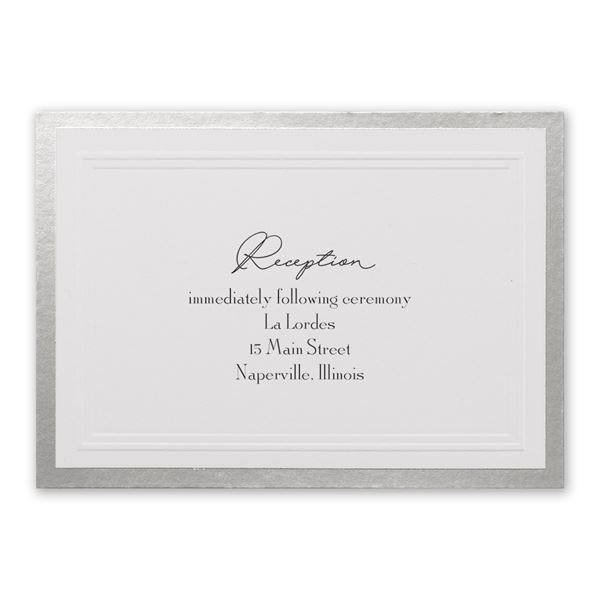 Silver Sophisticated Border Reception Card
