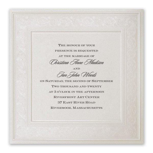 Elegant Display Invitation
