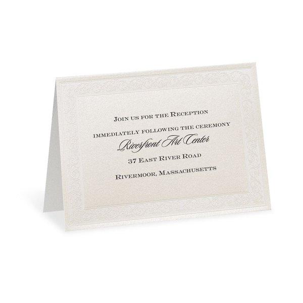 Elegant Display Reception Card