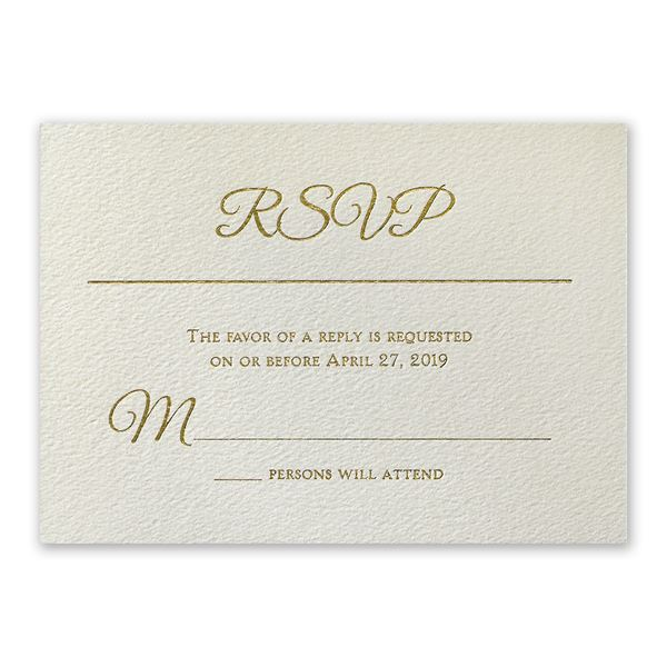 Layers of Luxury Gold Foil Response Card