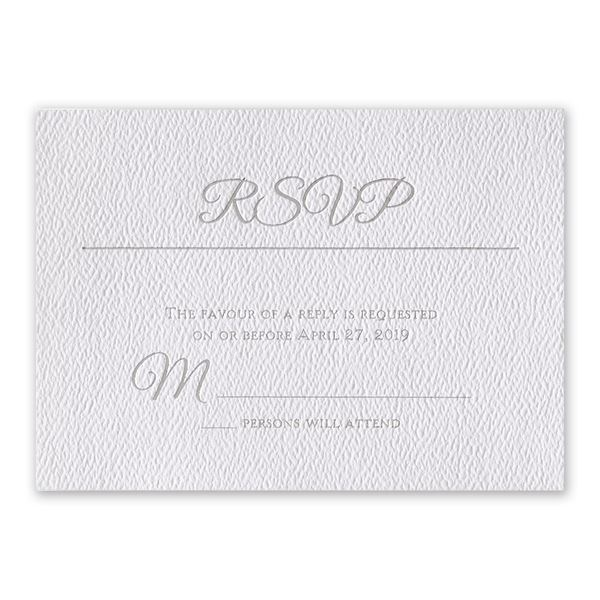 Layers of Luxury Silver Foil Response Card