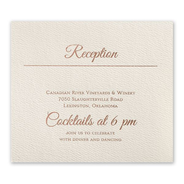 Layers of Luxury Rose Gold Foil Information Card