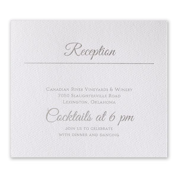 Layers of Luxury Silver Foil Information Card