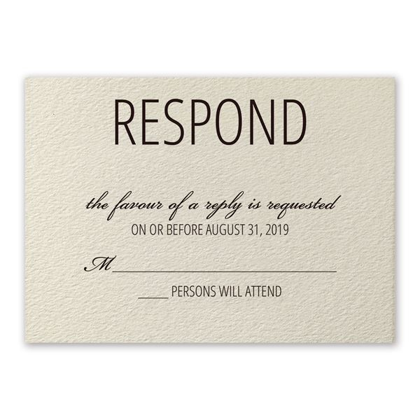 Pretty Floral Response Card