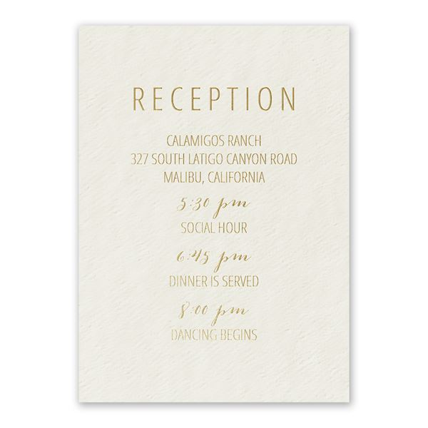 Simple Luxury Foil Reception Card