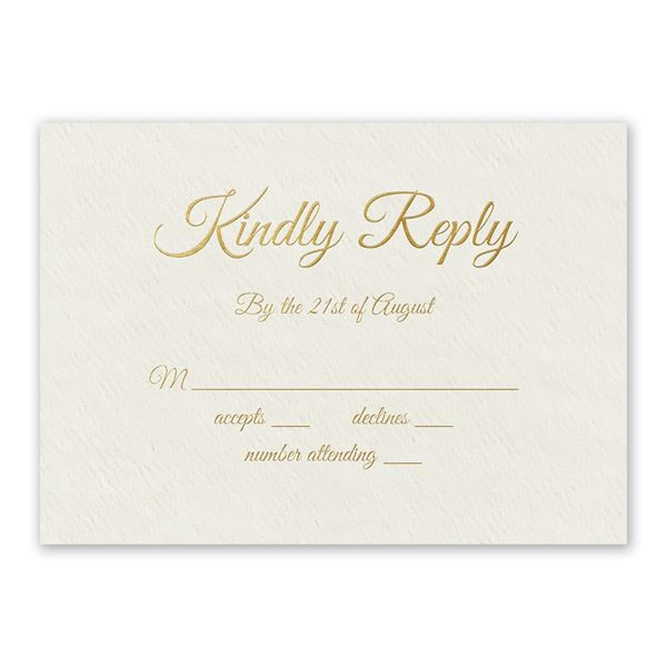 Natural Luxury Foil Response Card