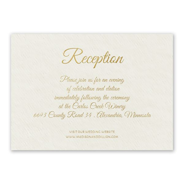 Natural Luxury Foil Reception Card