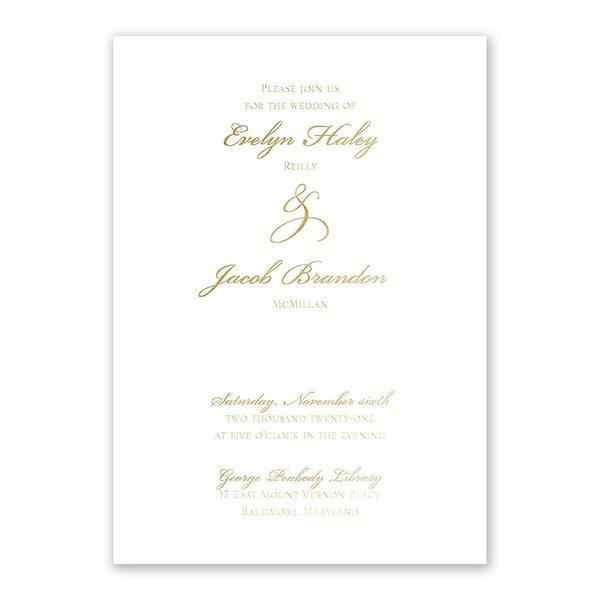 Gilded Beauty Gold Foil Invitation