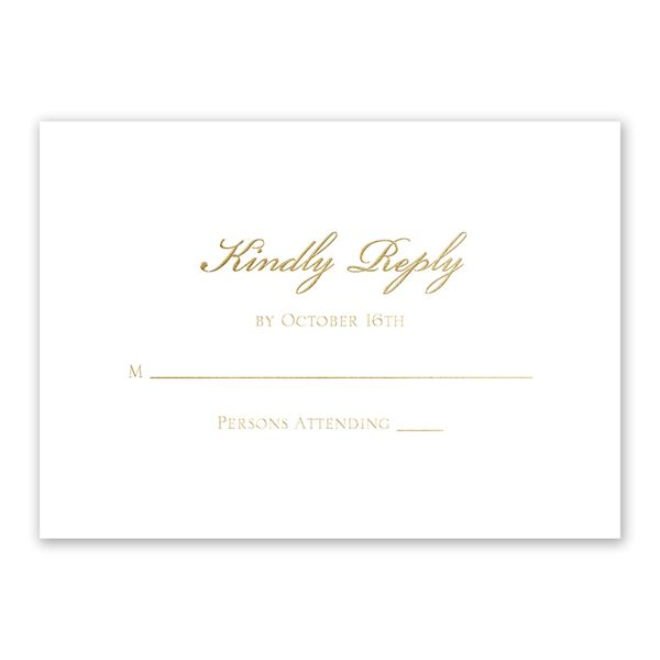 Gilded Beauty Gold Foil Response Card