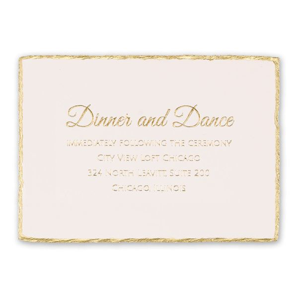 Gold Lining Foil Reception Card