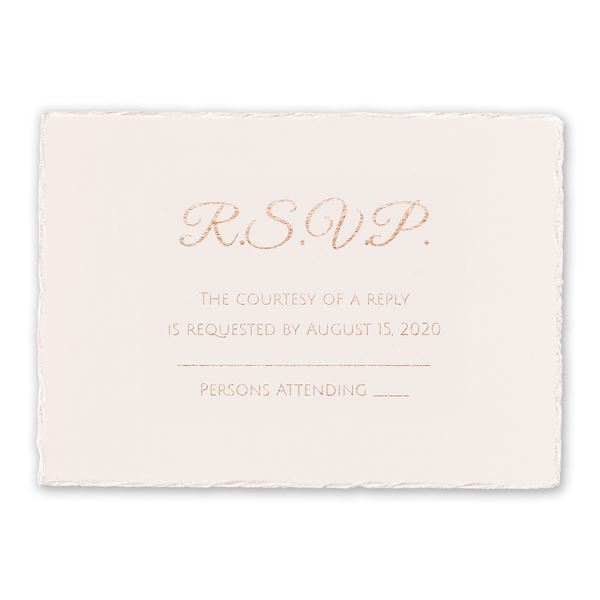 Pearl Lining Foil Response Card