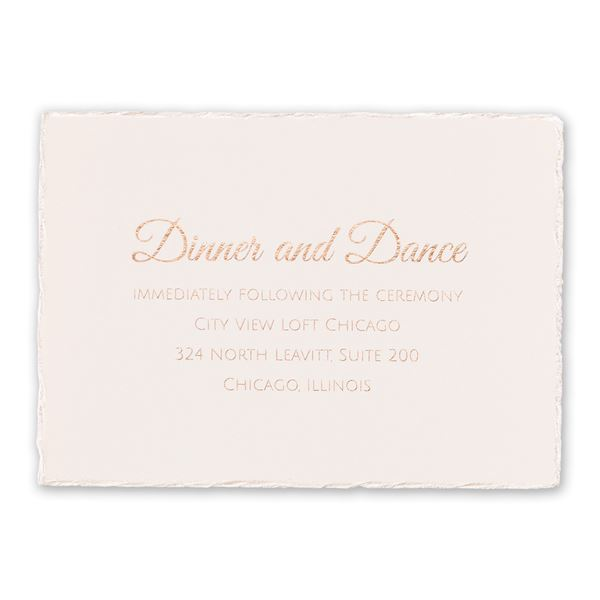 Pearl Lining Foil Reception Card