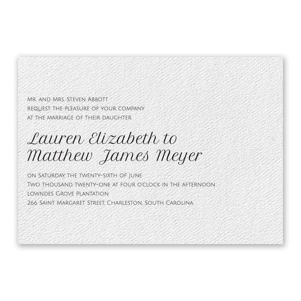 Pure Perfection - White - Invitation