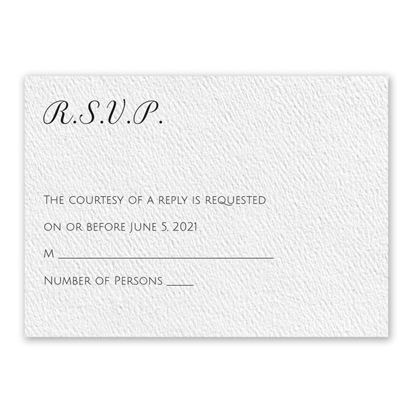 Pure Perfection - White - Response Card