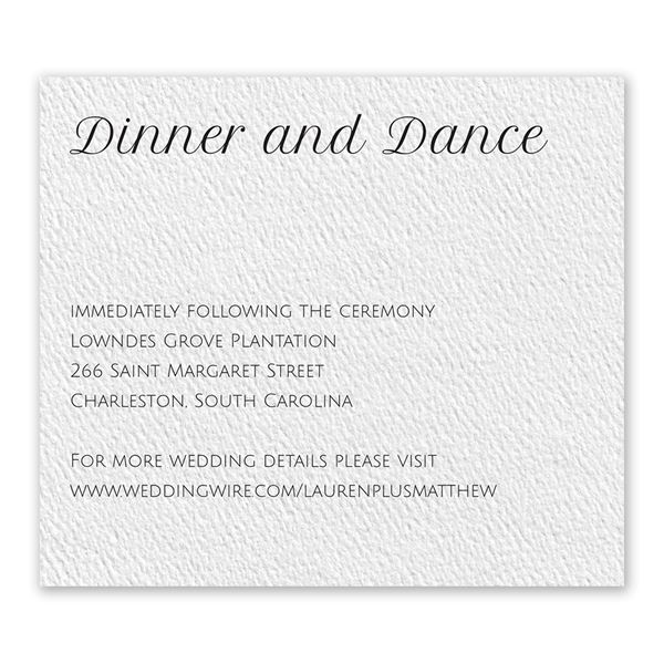 Pure Perfection - White - Information Card