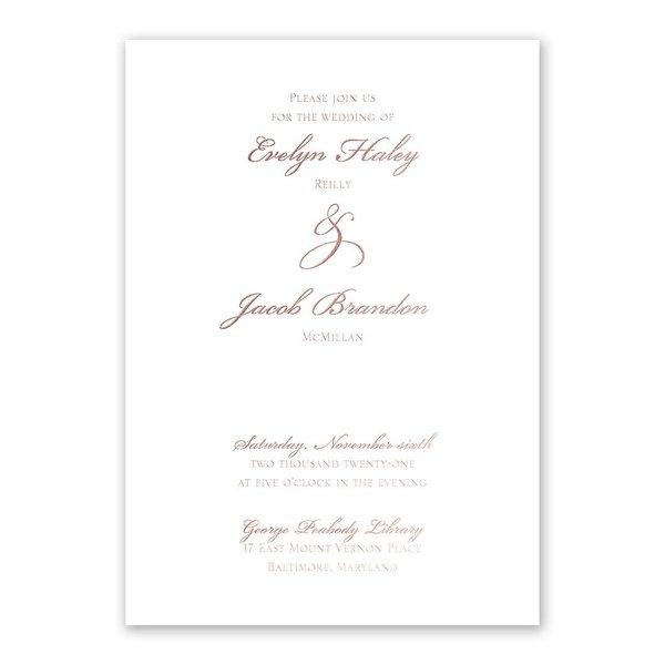 Gilded Beauty Rose Gold Foil Invitation