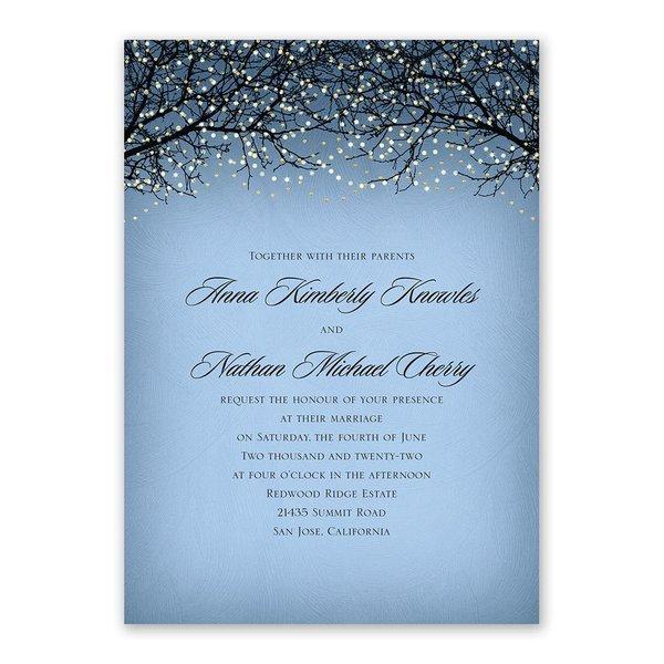 Fairytale Sky Foil Invitation