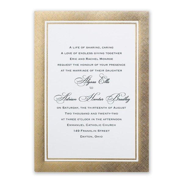 Golden Grandeur Invitation