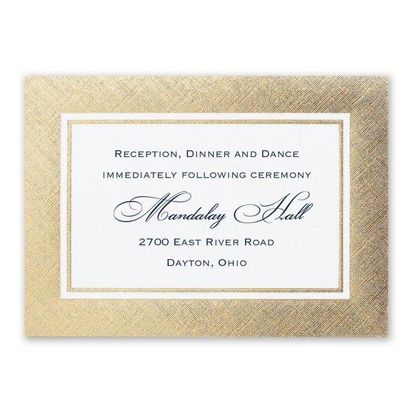 Golden Grandeur Reception Card