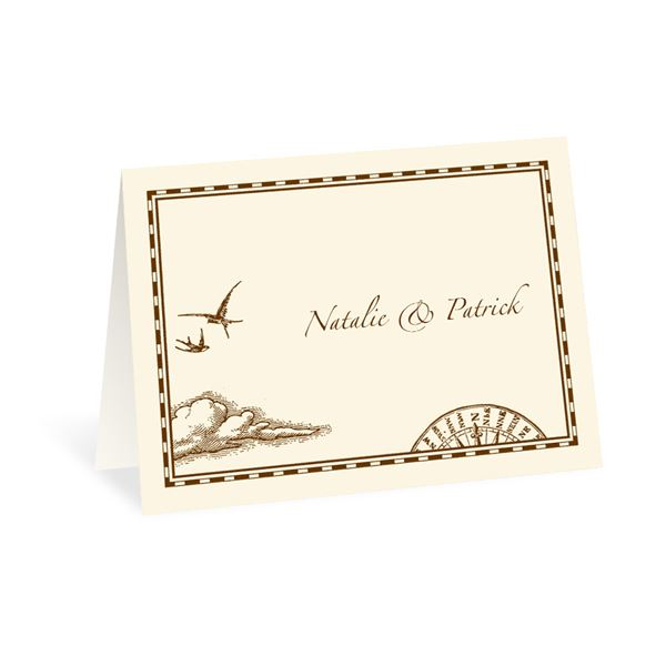 Treasure Map Note Card and Envelope