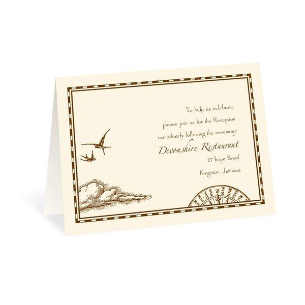 Treasure Map Reception Card