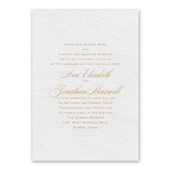 Absolutely Classic White Invitation