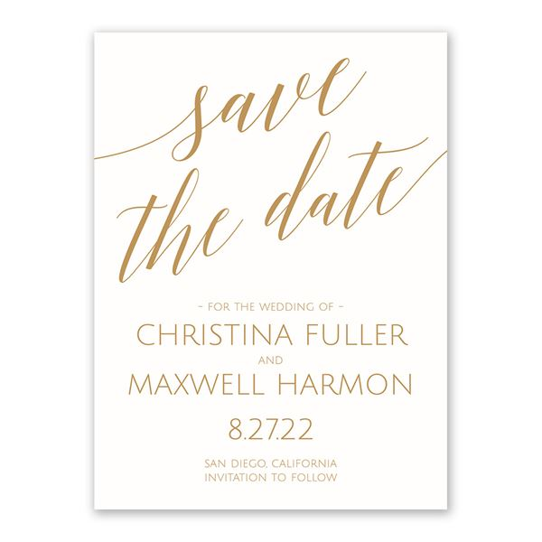 Swept Away White Save the Date