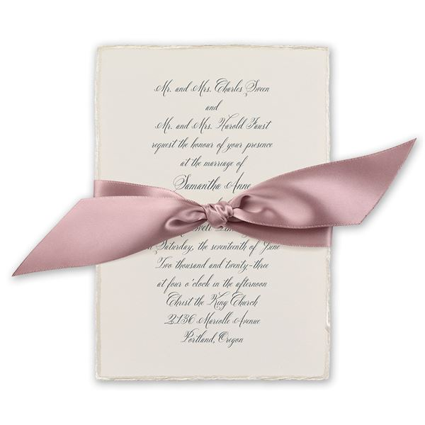 Rosewater Deckle Invitation