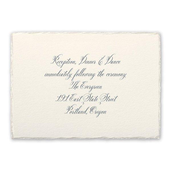 Rosewater Deckle Reception Card