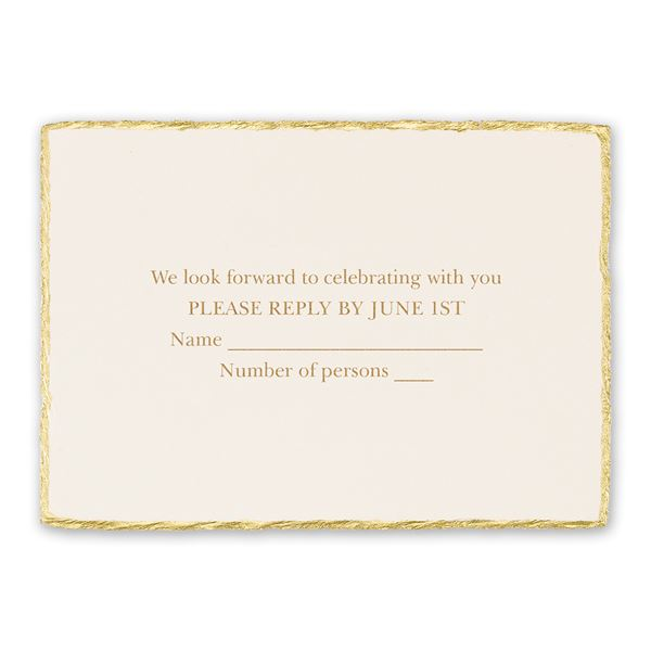Jeweled Deckle Response Card