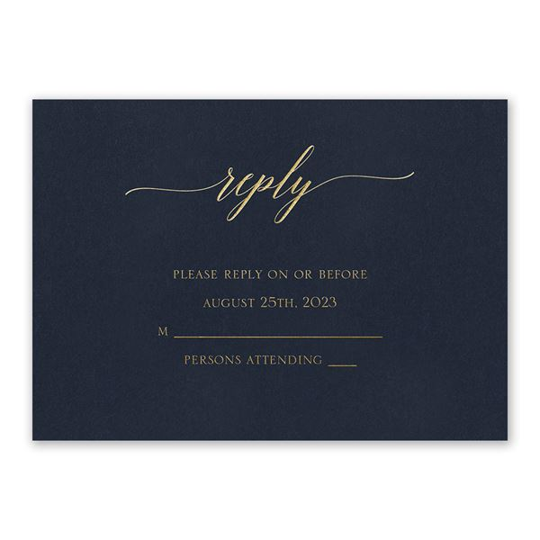 Navy Brilliance - Gold - Foil Response Card