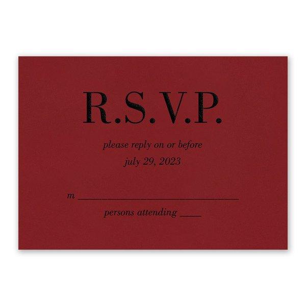 Red Romance Response Card