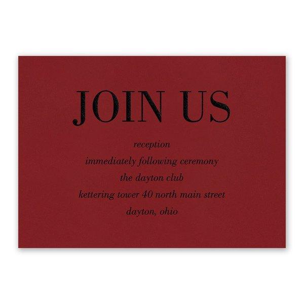 Red Romance Reception Card