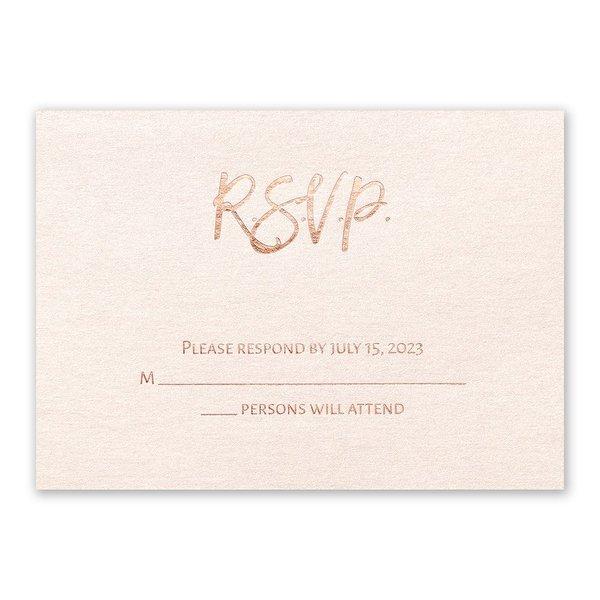 Blush Beauty - Rose Gold - Foil Response Card