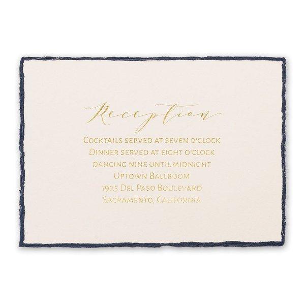 Delicate Deckle - Gold - Foil Reception Card