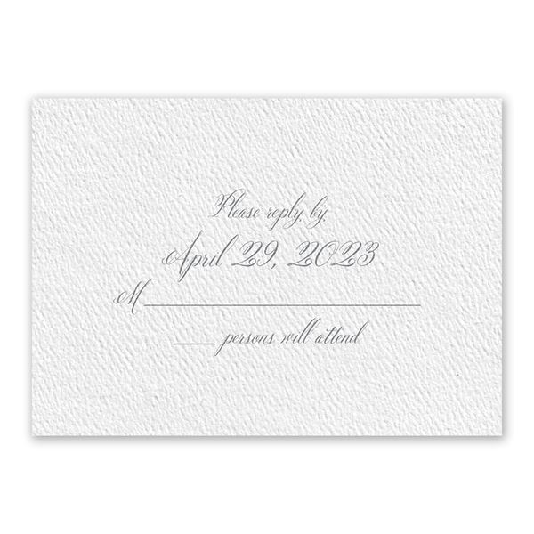 Wedded Bliss White Response Card