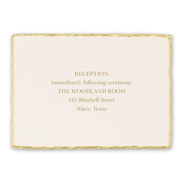 Adorned Deckle Reception Card