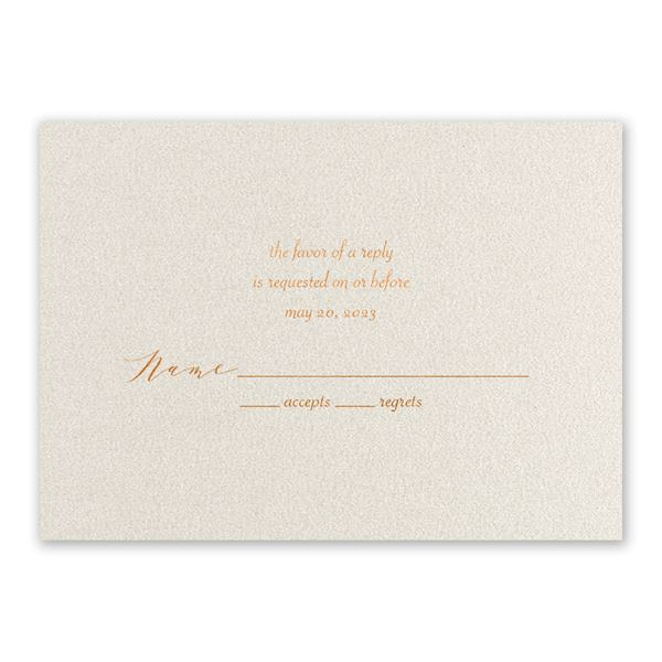 Wrapped in Beauty Copper Foil Response Card