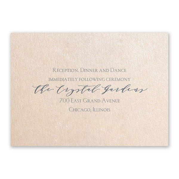 Blossoming Blush Shimmer Reception Card