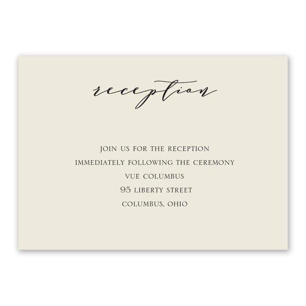 Refined Ecru Reception Card