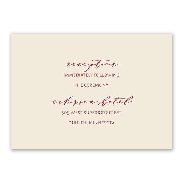 Gold Mandala Reception Card