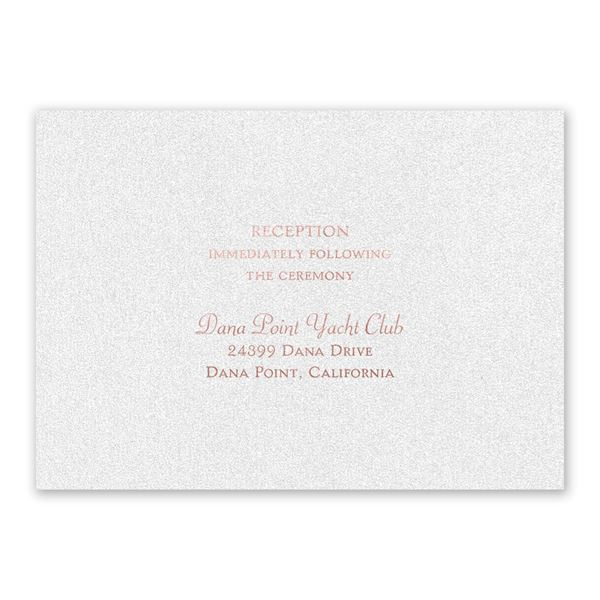 Blooming Beauty Rose Gold Foil Reception Card