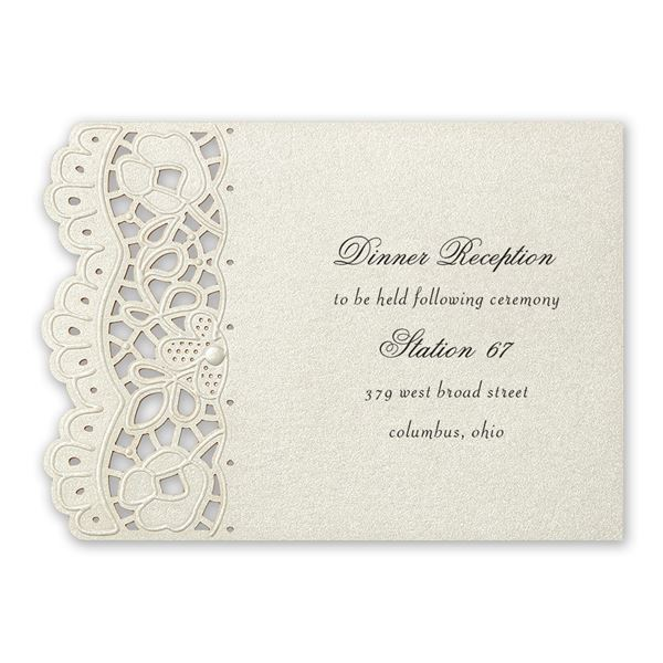 Fancy Frills Laser Cut Reception Card