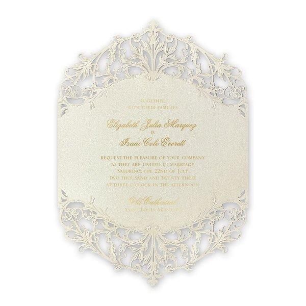 Majestic Gold Laser Cut Invitation