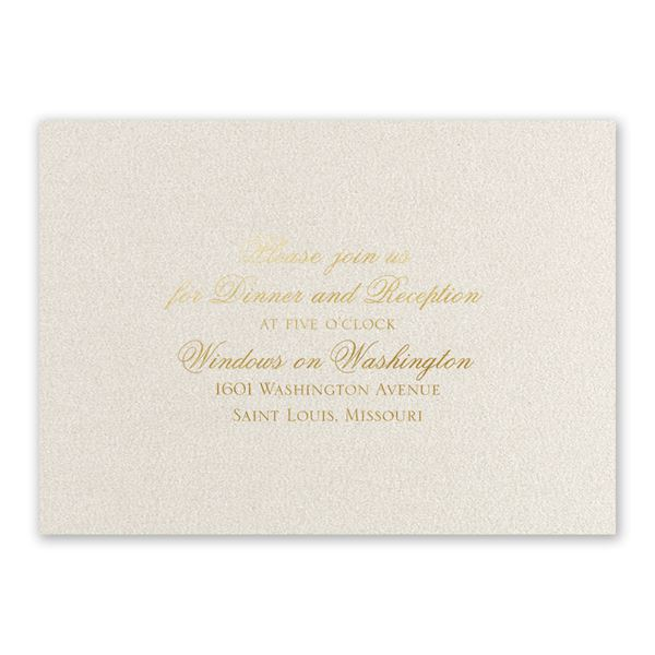 Majestic Gold Foil Reception Card