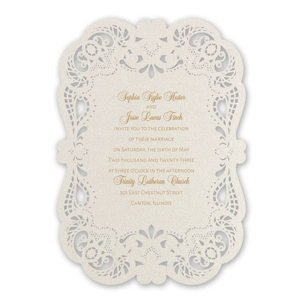 Classically Chic Laser Cut Invitation
