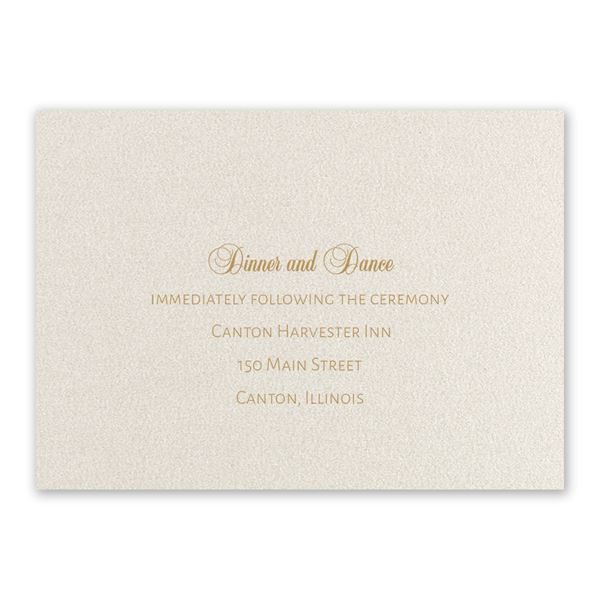 Classically Chic Reception Card