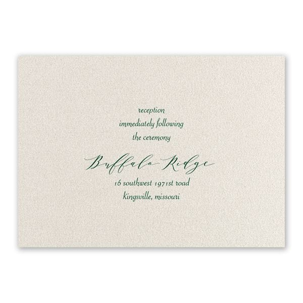 Natural Beauty Hunter Foil Reception Card