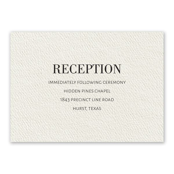 Forever Ecru Reception Card