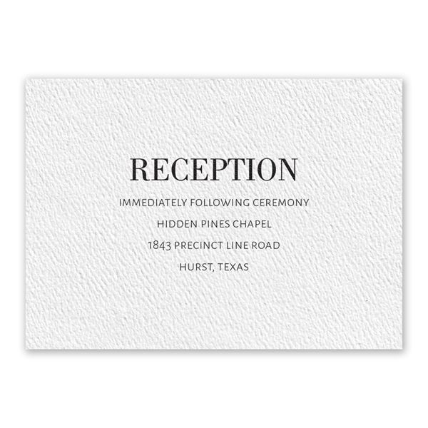 Forever White Reception Card